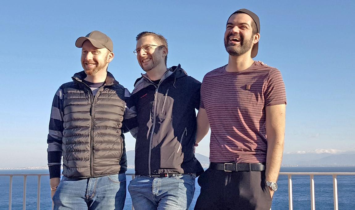 Die geschäftsführenden Gesellschafter Roman Schapiro, Patrick Jacobi und Julien Walter